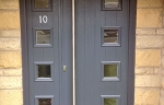 Composite doors with side panel