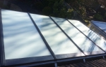 satin glass con roof
