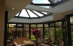Victorian style glass orangery roof