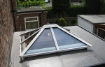 Glass roof for a kitchen orangery