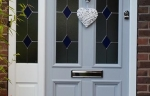 accoya grey front door