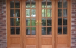 Oak patio door set