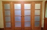 Internal timber doors with privacy glass