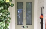 timber entrance door etched glass