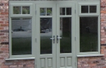 Traditional look timber French doors