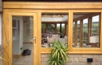 Green oak accoya door