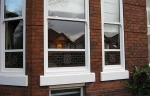 Accoya wood white sash windows in conservation area
