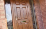 Oak effect uPVC front door