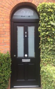 Accoya black front door
