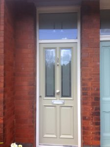 Accoya wood cream timber door
