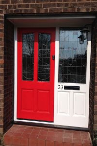 Accoya wood red front door