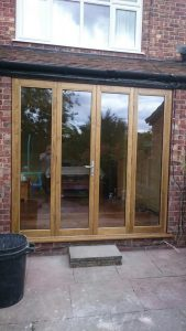 Accoya oak effect bifold doors
