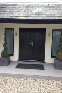 Accoya black timber doors