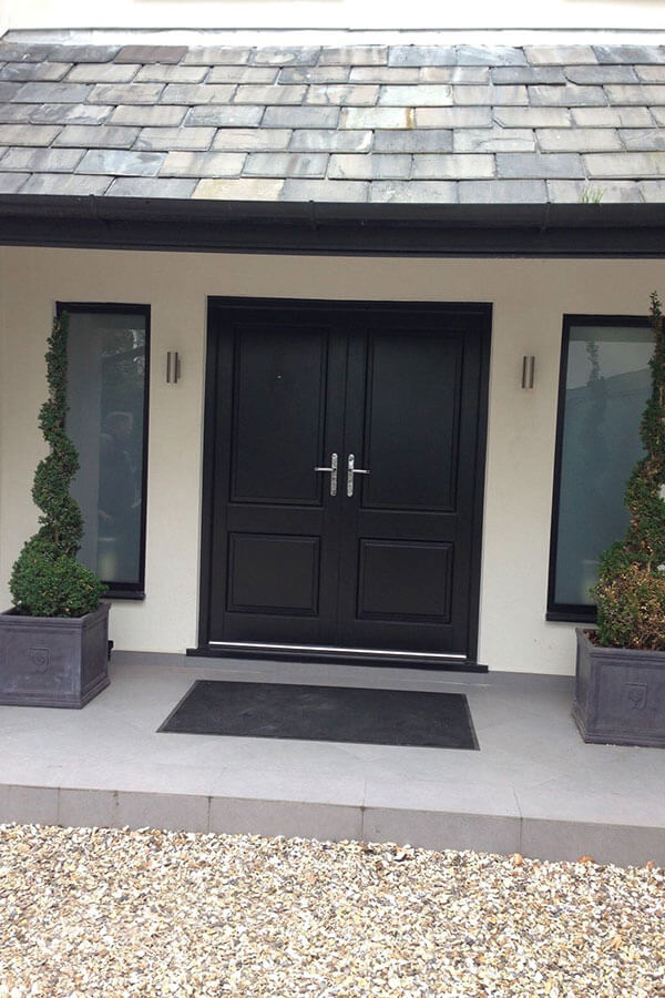 Accoya black timber doors Manchester