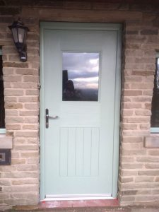 Chartwell Green composite rear door