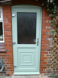 Chartwell Green uPVC rear door