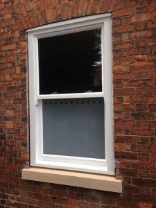 Single timber sliding sash window