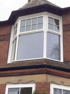 Accoya wood bay window