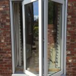 Accoya wood bifold doors with two panels