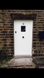 Accoya timber white door