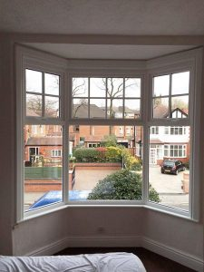 Accoya wood mock sash bay windows
