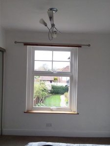 Accoya wood mock sash window