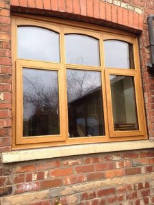 Accoya wood polished windows
