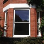 White Accoya wood timber sliding sash windows