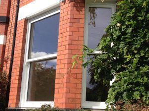 White bay timber sliding sash windows