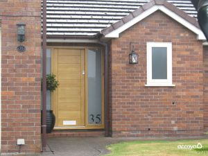 Accoya softwood timber door