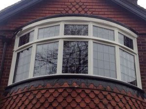 Accoya wood true curve bow window