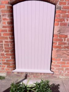Accoya white purple timber door