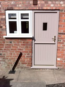 Accoya wood timber stable door and white uPVC window