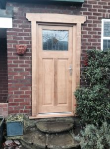 Accoya wood door with leaded lights