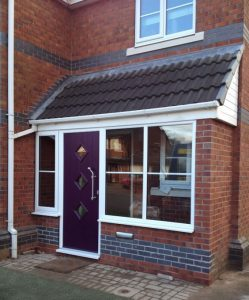 Aubergine composite door