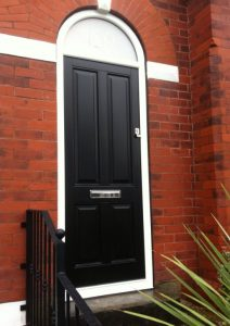 Black Accoya wood timber door