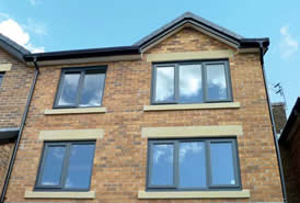 Black grey uPVC windows