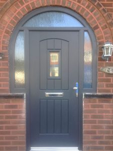 Black traditional composite door