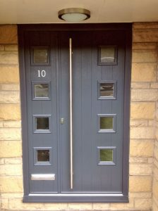 Modern grey composite door