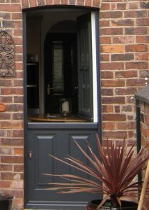 Grey composite grey door