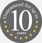 Products guaranteed for up to ten years