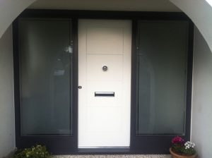 Hardwood timber front door