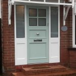 Mint green Accoya wood timber doors