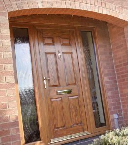 timber effect entrance door