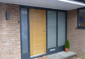 Timber oak front door