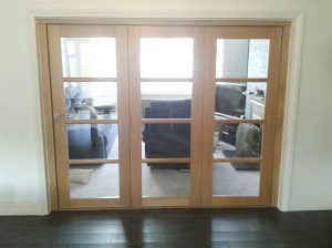 Oak internal bifold doors