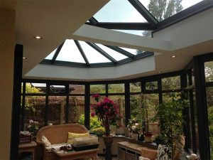 Orangery roof from the interior