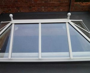 Glass orangery roof