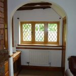 Vertical Accoya wood windows