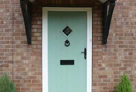 Sage green composite door